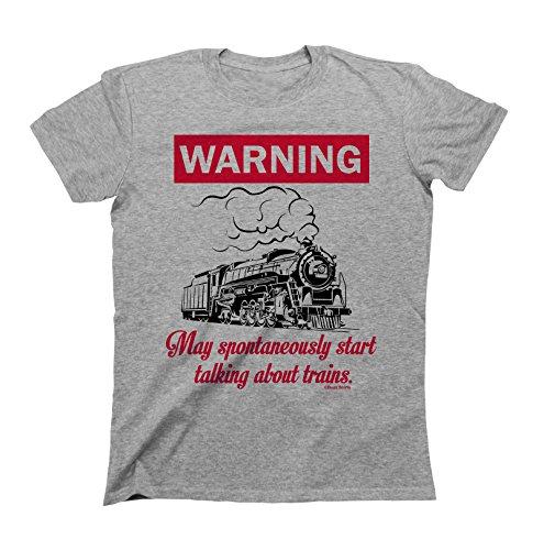 Apparel Train (WARNING May Spontaneously Start Talking About TRAINS T-Shirt Boys Girls Kids Unisex Fit)