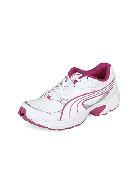 Puma Women s Axis Xt II Wn s White and Pink Sport Running Shoes - 4 ... 2d8c412330