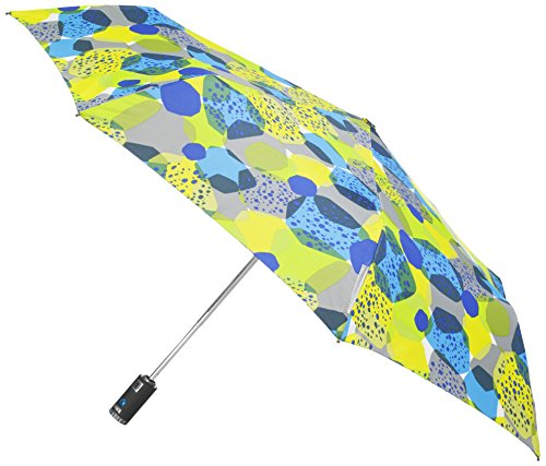 (Totes Trx Auto Open and Close Light N Go Traveler Umbrella with Built in Led Flashlight, Stones, One Size)