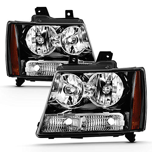 ACANII - For 2007-2014 Chevy Suburban Tahoe Avalanche Factory Style Headlights Headlamps Driver + Passenger Side