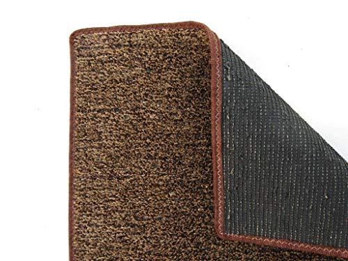 12'x10' BROWN TAN INDOOR/OUTDOOR ARTIFICIAL TURF GRASS CARPET RUG WITH A MARINE BACKING by Beaulieu. ()