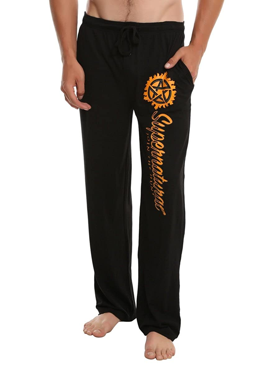Hot Topic Supernatural Anti-Possession Logo Guys Pajama Pants 11062464