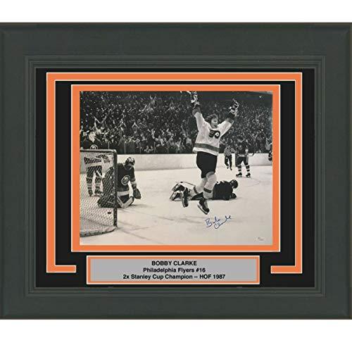 Framed Autographed Signed Memorabilia Bobby Clarke Philadelphia Flyers 16x20 Photo - JSA Authentic