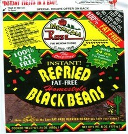 Mexicali Rose Low Fat Free Refried Black Beans Instant 3 pack by Mexicali Rose