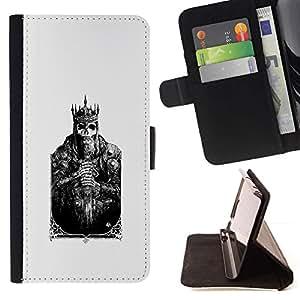 Momo Phone Case / Flip Funda de Cuero Case Cover - Tarjeta de la muerte Cráneo Cartel Poker - Samsung Galaxy S6 Active G890A