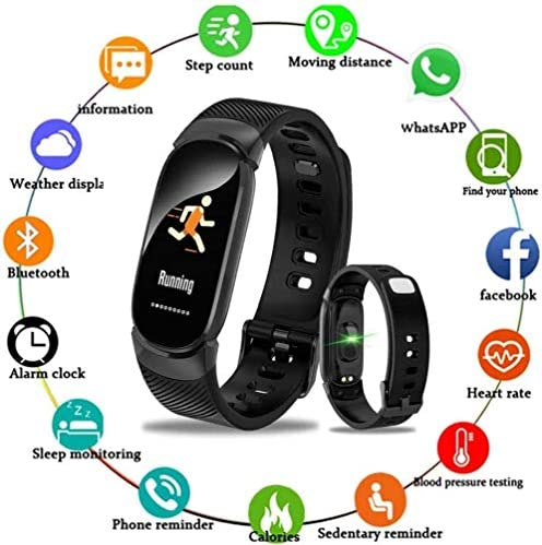 SmartWatch misurazione della pressione arteriosa impermeabile Bluetooth uomini di fitness inseguitore e orologi da donna blu