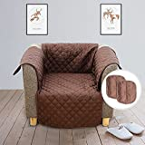 YOH Anti-Slip Washable Sofa Silpcover, Stylish Waterproof Cushion Cover Pet Dog Sofa Covers Furniture Protector, Couch Covers for Pets and Kids (Chair)