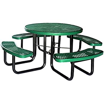 Amazoncom Lifeyard Expanded Metal Mesh Commercial Round Green - Mesh picnic table