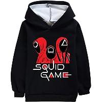 TrendyKids Squid Game Plush Hoodie for Boys Girls Squid Korean Game Sweatshirt