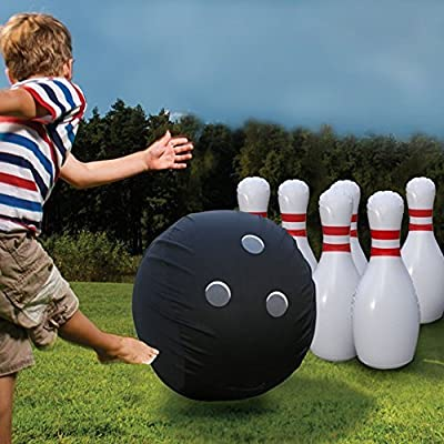 Etna Giant Inflatable Bowling Set: Toys & Games