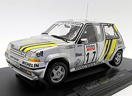 Norev NV185215 1: 18 1989 Renault Supercinq GT Turbo – Tour de Corse 1989