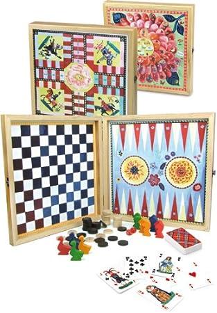Vilac 8635 - Caja de juegos de mesa clásicos [Importado de Francia]: Amazon.es: Juguetes y juegos