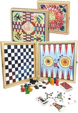 Vilac 8635 - Caja de juegos de mesa clásicos [Importado de Francia ...