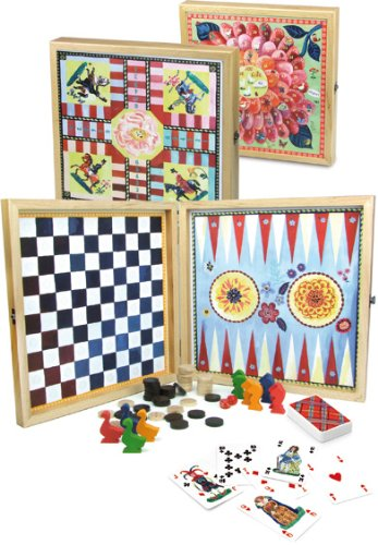 Vilac Nathalie Lete Set of Classic Development Games - Italian Backgammon