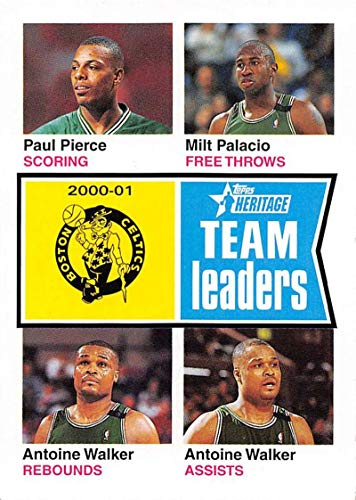 2001-02 Topps Heritage Basketball #82 Milt Palacio/Paul Pierce/Antoine Walker Boston Celtics Official NBA Trading Card