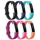 Kartice for Fitbit ace Bands,Soft Silicone Replacement in Varied Colors Fitbit Alta Accessory Band with Secure Buckle for Fitbit Alta HR and Fitbit Alta (SIX color)