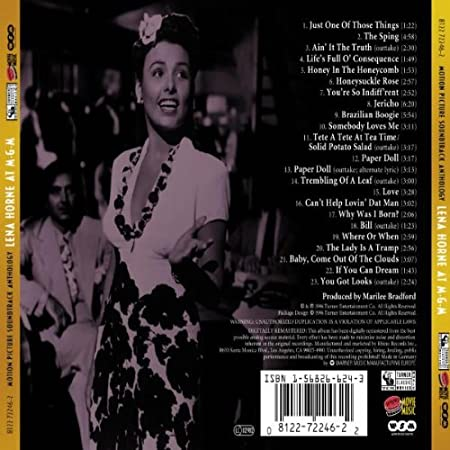 Lena Horne At Metro Goldwyn Mayer Ain It The Truth Motion Picture Soundtrack Anthology