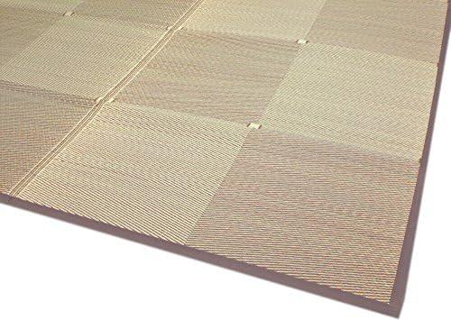 い草裏貼カーペット シンプルな市松模様で落ち着いたブラウン色 「市松」 本間6畳(286x382cm) 【裏貼、本間タイプ】