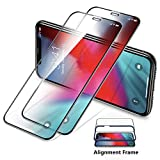 [2 Pack] TORRAS Tempered Glass iPhone XS Max Screen Protector Film[6X Defense][Full Coverage] [Case Friendly][Alignment Frame][Anti Dirt] Compatible with iPhone XS Max(6.5'',2018)