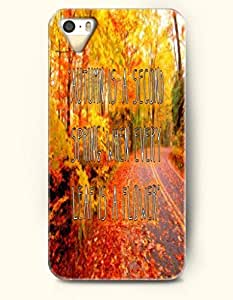 """iPhone 4 / 4s Case """"Autumn Is A Second Spring When Every Leaf Is A Flower' - Forest - Hard Back Plastic Case - OOFIT Authentic"""