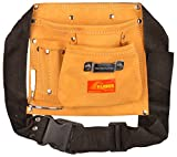 GLOBUS Leather Tool Apron- (8.5 x 9 inches, Brown & Black)
