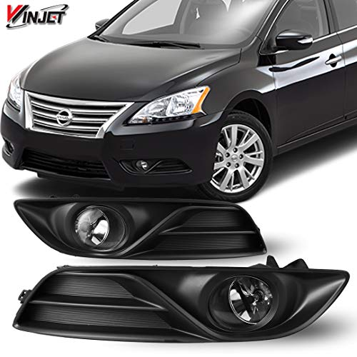 (Winjet WJ30-0423-09 OEM Series for [2013-2015 Nissan Sentra] Clear Lens Driving Fog Lights + Switch + Wiring Kit)