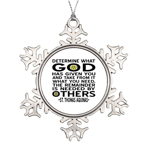 Xmas Trees Decorated God Has Given Photo Christmas Snowflake Ornaments Determine - Frame Size Determine