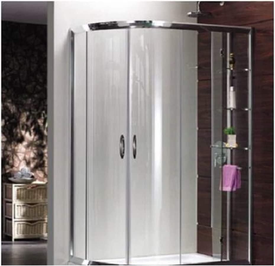 Box ducha de cristal templado 6 mm semicircular 2 lados – con ...