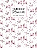Teacher Planner 2019-2020: Dated Weekly Lesson Plan with Calendar & Vertical Days - Pink Poodle And Flowers (Academic Year July 2019 to June 2020 - Pretty Sweet)