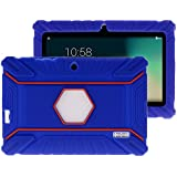 Turpro Rugged Defender Armor Shockproof Anti-Slip Kids' Silicone Cover for Select 7-Inch Tablets - Dark Blue