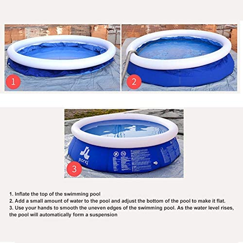 With Electric Air Pump Kracie Summer Family Swimming Pool Party For Kids Adults Quick Set Above Ground Swimming Pool For Backyard 10ft Portable Inflatable Top Ring Swimming Pools Outside Swimming Pools