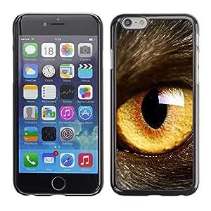 Stuss Case / Funda Carcasa protectora - Cat Eye Orange Yellow Fur Pet Looking - Apple Iphone 6