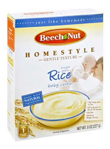 Beech Nut Homestyle Single Grain Rice Baby Cereal 8 OZ (Pack of 24)
