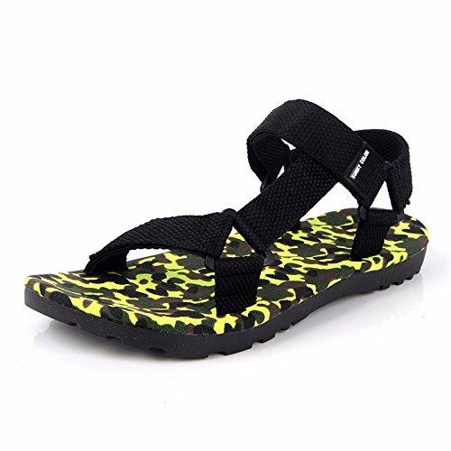 Sommer Rom Sandalen Männer Mode Das neue Tarnung Sandalen Männer Freizeit Strand Schuh ,Gelb,US=9,UK=8.5,EU=42 2/3,CN=44