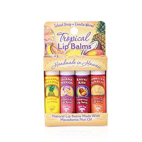 Tropical Lip Balm Sticks - Convenient 4 - Pack