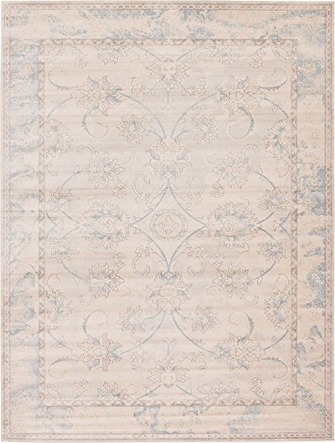 16ft Persian Rug - Traditional Vintage Persian Inspired Overdyed Fancy Design Rugs - Beige, 12' x 16'-Feet Restoration Collection Area Rug