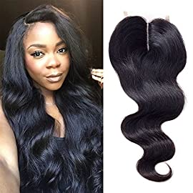 Ayana Brazilian Virgin Hair Double Lace Net Body Wave Middle Part 4X4 Lace Closure 100% Unprocessed Human Hair Lace Closure (8″ Body)