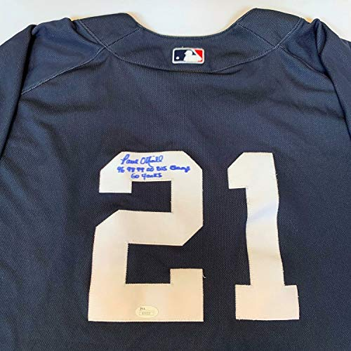 Paul Oneill Hand Signed - Paul Oneill 1996 1998 1999 00 World Series Champs Autographed Signed Yankees Jersey Memorabilia JSA