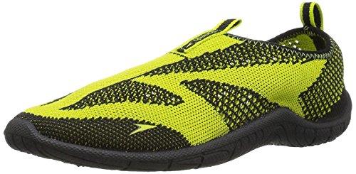 Speedo Water Shoes-Surf Knit Skate, Black/Sulphur Spring, 4