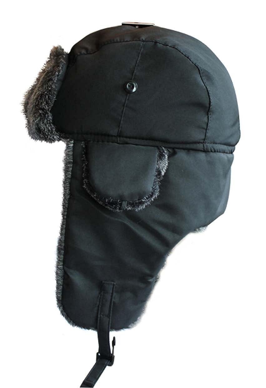 VIZ Winter Trapper-Cappello Impermeabile, da Adulto, Colore: Grigio con Bordo in Pelliccia Sintetica