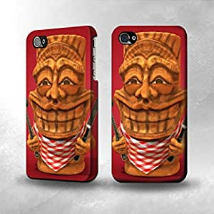 Apple iPhone 4 / 4S Case - The Best 3D Full Wrap iPhone Case - Chef Tiki