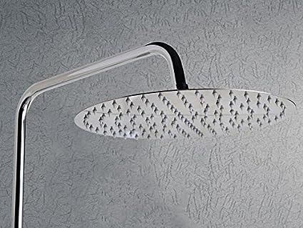 10/'/' Round Thin Stainless Steel Rain Shower Head Rainfall Bathroom  Sprayer
