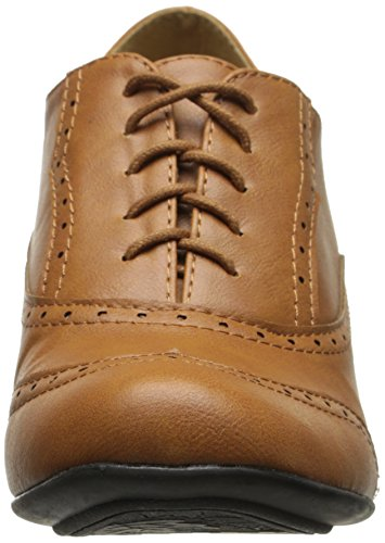 0e478e17a359 Refresh BH50 Women Leatherette Lace Up Oxford Chunky Heel Bootie - Tan  (Size  7.0) - Buy Online in UAE.