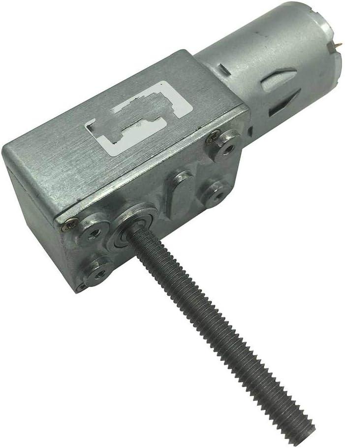 DGPOAD 12V Volt DC Reductor de Engranaje helicoidal M6 Longitud del Eje del Tornillo 50MM 3V6V24V Motorreductores helicoidales Reducción invertida-12v 30rpm, Paquete J