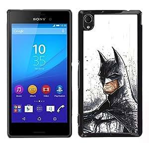 Design for Girls Plastic Cover Case FOR Sony Xperia M4 Aqua Serious Bat Superhero OBBA