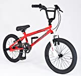 Muddyfox Griffin 18' BMX Bike with Stunt Pegs - Red and White - Boys - New Model - Online Exclusive!