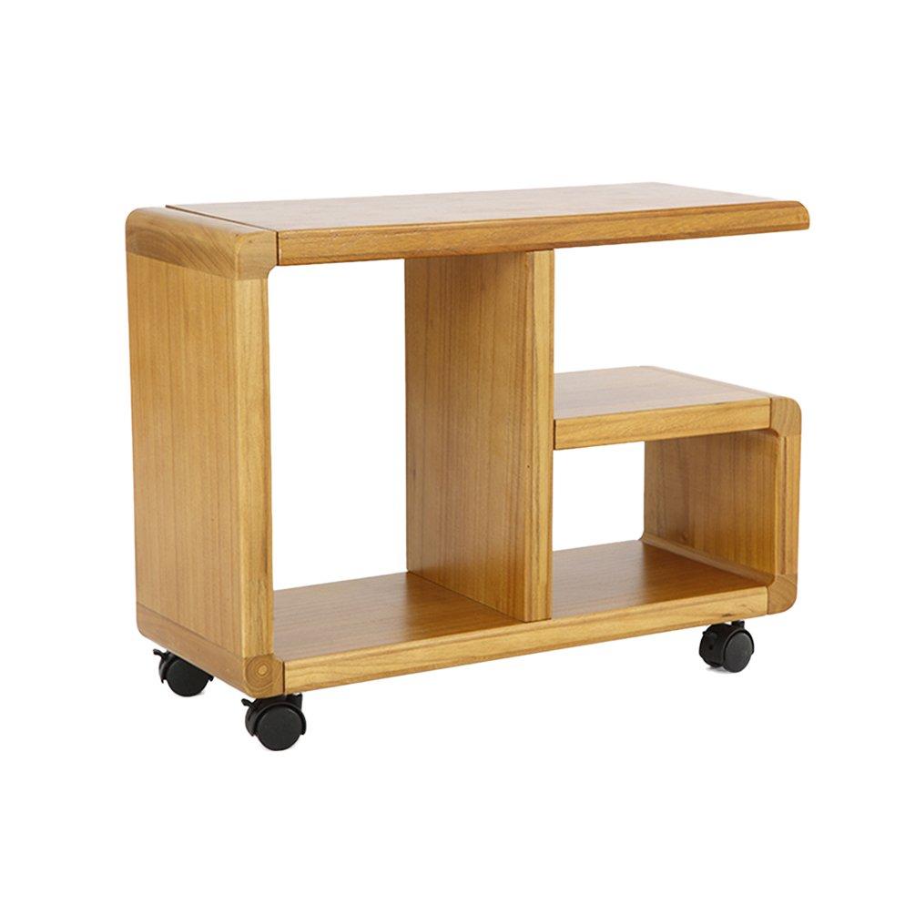 CSQ それはベッドサイドキャビネット、クリエイティブソリッドウッドシェルフのストレージラックソファのテーブルを移動することができますいくつかの側面本棚小さなコーヒーテーブル (色 : #2) B07FH88F67#2