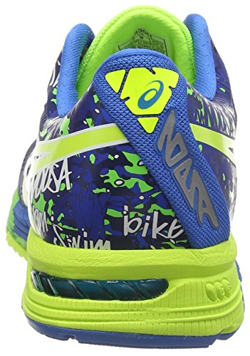 Asics Gel-Noosa Tri 10, Scarpe Sportive, Uomo Midnight/Flash Yellow/Flash Green 4907