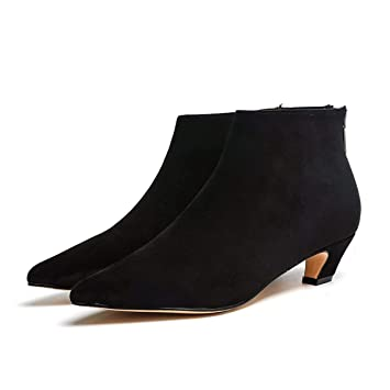 KPHY Zapatos de Mujer/Poco Y Corto Botas con Altas 4Cm Puntiagudas Gato Y Botines Medio Y Salvaje Solo Botas Y Zapatos De Tacon.: Amazon.es: Deportes y aire ...