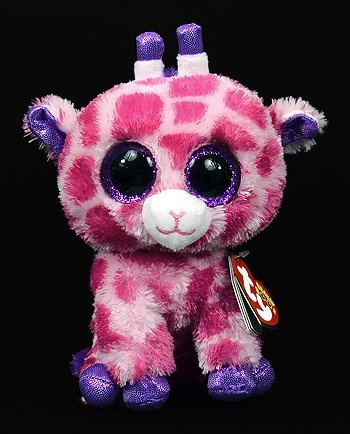 New TY Beanie Boos Cute Twigs the pink giraffe Plush Toys 6'' 15cm Ty Plush Animals Big Eyes Eyed Stuffed Animal Soft Toys for Kids Gifts